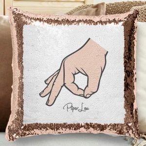 """Circle Game"" Flip Sequin Pillows (Set of 2)"